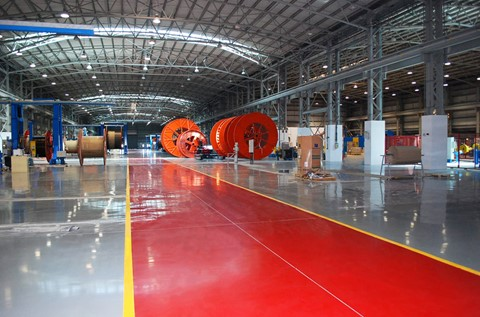 Region's First High Voltage Cable Facility Installs Flowcrete Floors