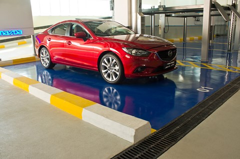 UAE's Mazda's are Fixed on a Flowshield Floor Finish