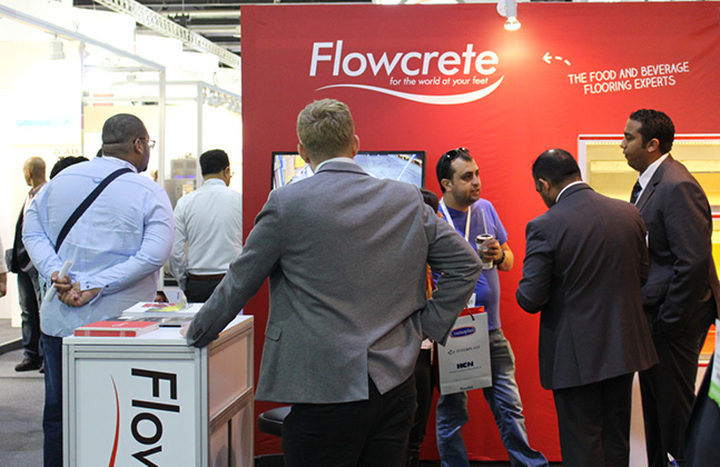Flowcrete Middle East showcased  its hygienic flooring solutions at Gulfood Manufacturing 2016.